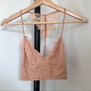 Bershka Cotton Lace Bralette Sz XS
